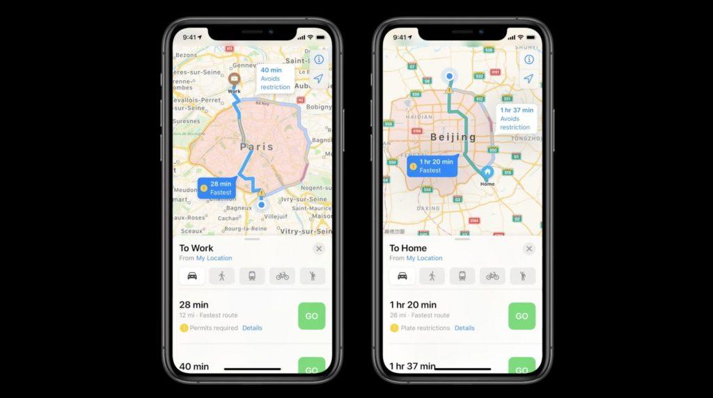 Apple iOS 14 maps