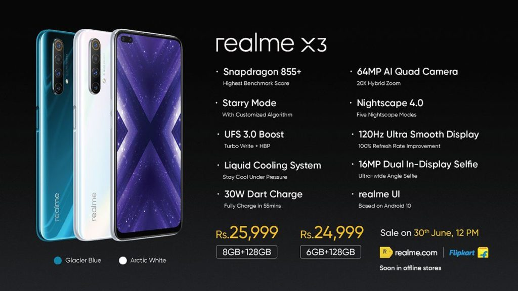 realme x3 specs and prices